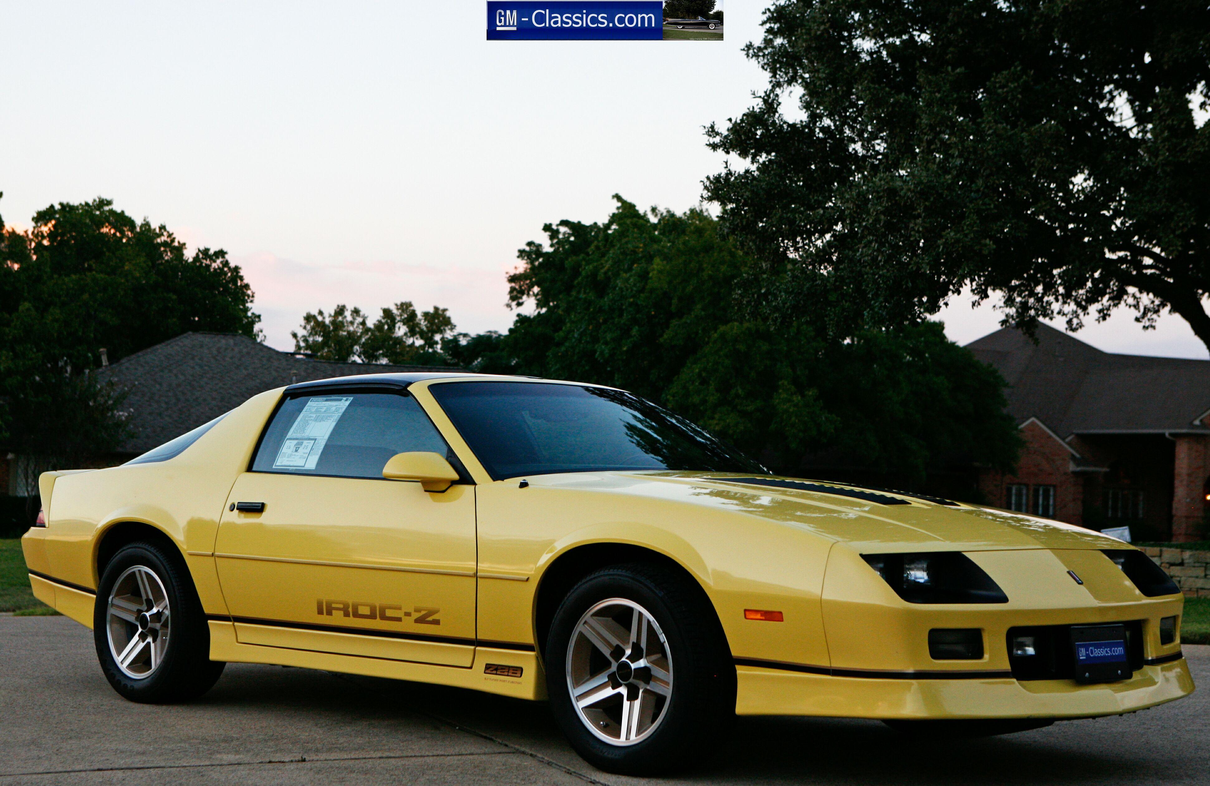 1987 Chevrolet Camaro Iroc Ebay